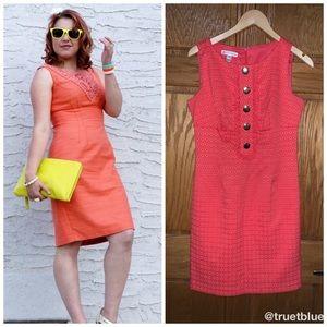 🆕 London Times Coral Sheath Dress Sz 8